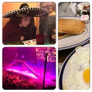 How I spent my birthday: Breakfast with family. Dinner with my husband and a friend. Trans Siberian Orchestra concert.