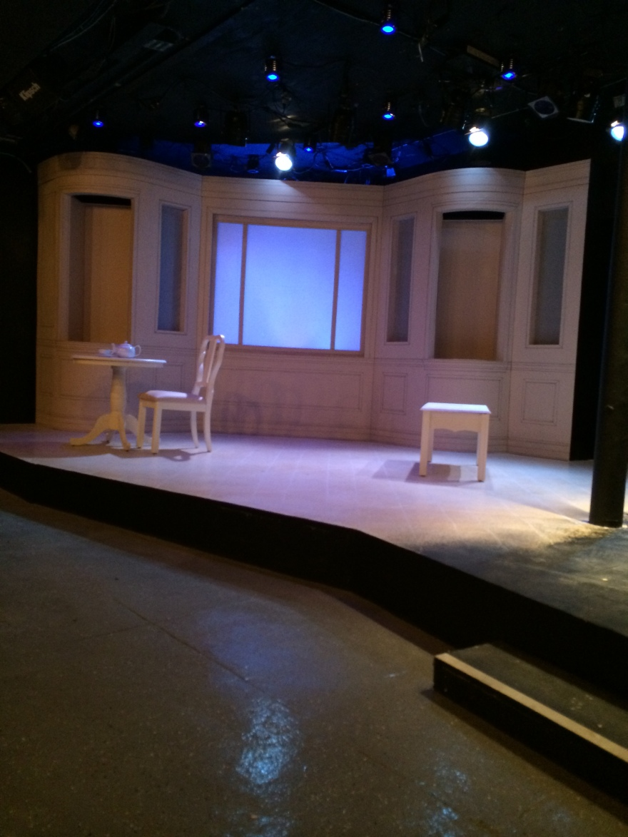 The set of Buyer and Cellar at The Phoenix Theatre of Indianapolis.