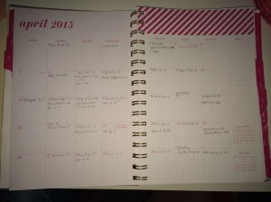 April 2015 Monthly Planner