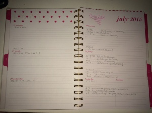 July 2015 Weekly Planner
